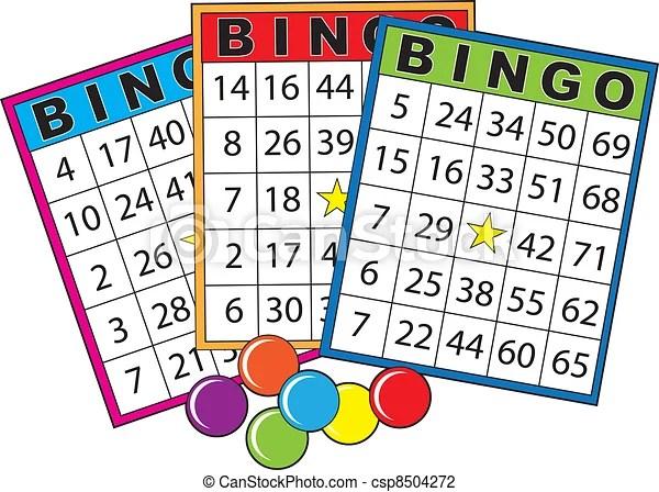 Bingo Cards Three Colorful Bingo Cards