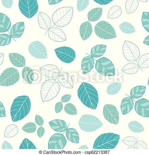 blue leaves vector seamless
