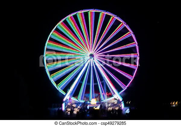 blurred giant wheel ferris