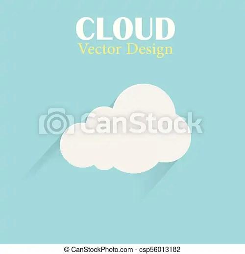 cloud vector design template