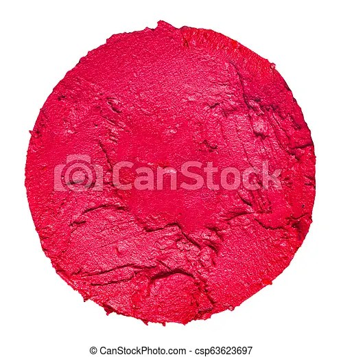 lipstick swatch in a