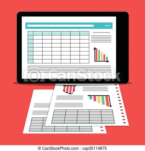 Spreadsheet icon design. Spreadsheet concept with icon design ...