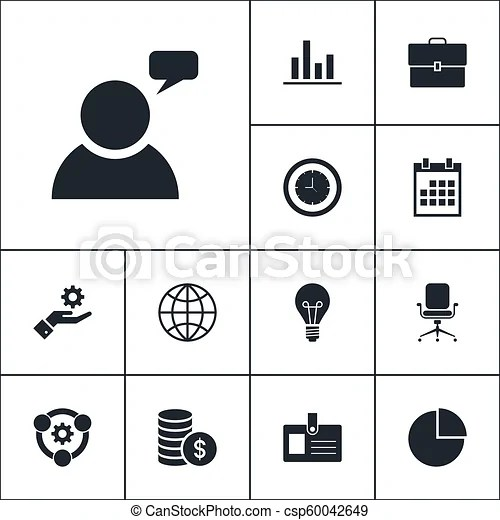 vector set of business