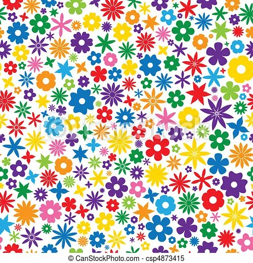 Azulejo flor coloridos Azulejo repetindo flor
