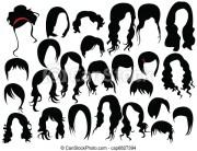 vetor eps de cabelo desenho csp6827394