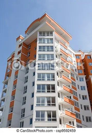 Banco de fotografias de Novo Apartamento modernos predios  modernos e Novo csp9592459  Pesquisar fotografias imagens e foto clip arte