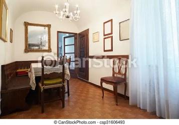 Casa antigas simples jantando quarto Casa antigas