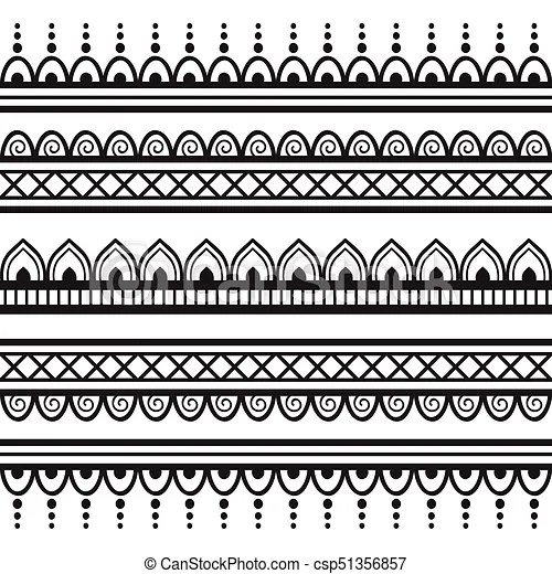 00050 seamless henna borders