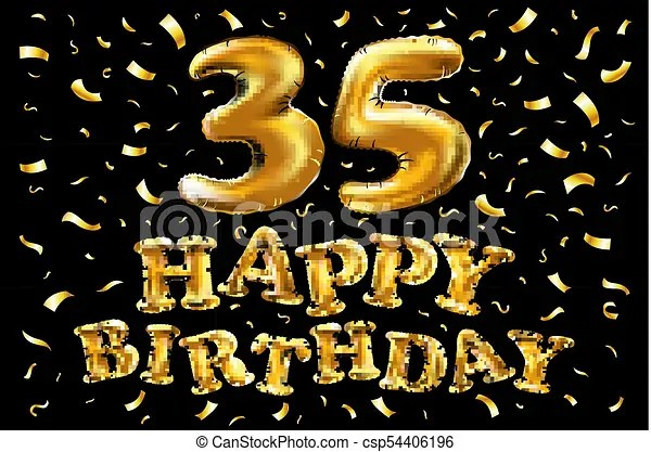 https www canstockphoto com 35th birthday celebration with gold 54406196 html
