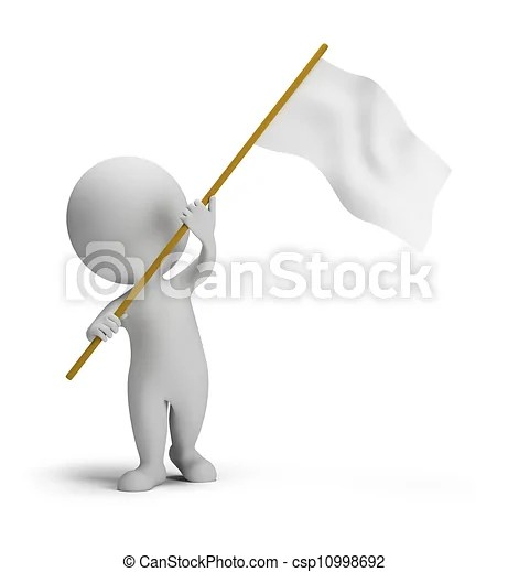 3d small people flag