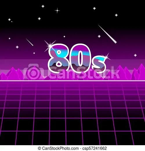 80s star night. abstrack futuristick