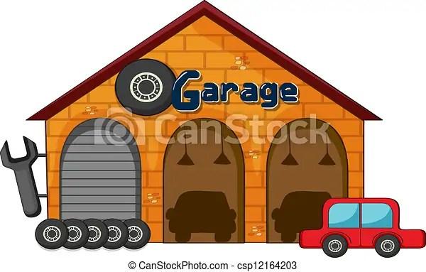 garage . illustration of