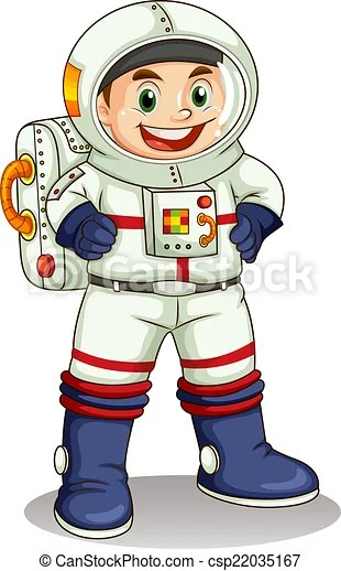 illustration of happy astronaut