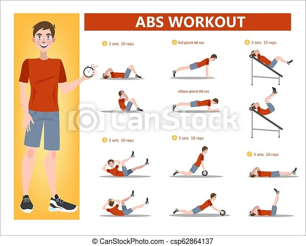 Abs workout for men. exercise for perfect body. Abs workout for men. sport exercise for perfect abs. fit body and healthy lifestyle. muscle ...