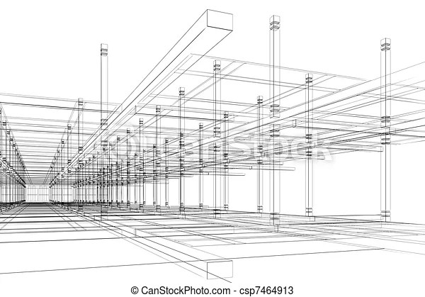Abstract architectural construction. Abstract modern