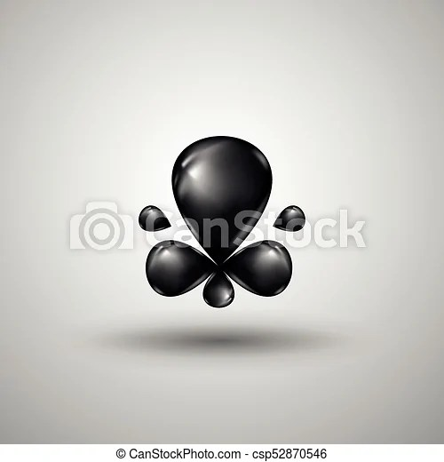 abstract black liquid drops
