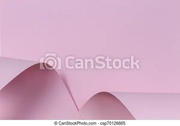 Abstract geometric shape pastel light pink color paper background