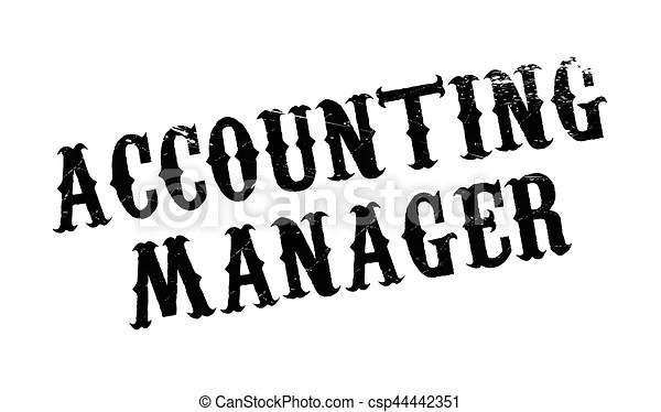 Accounting manager rubber stamp. grunge design with dust
