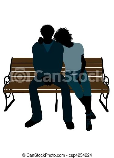 african american couple illustration
