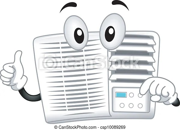 Air-conditioner mascot. Mascot illustration featuring an