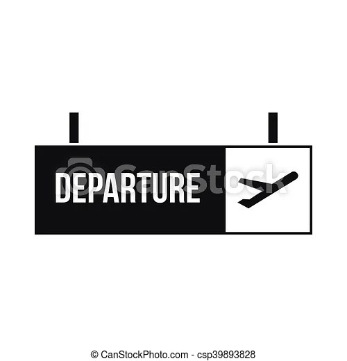 airport departure sign icon