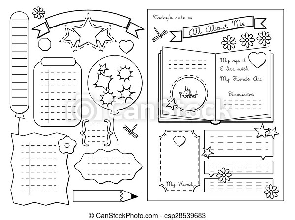 All about me. school printable. Back to school. all about