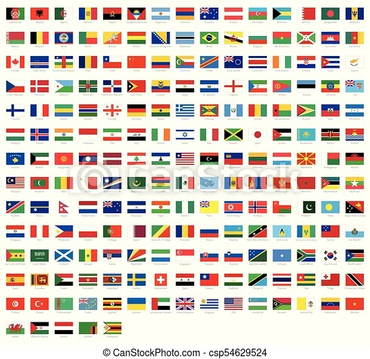 all national flags of