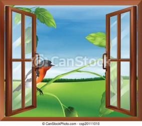 window open bird finestra vista outside clipart clip aperta esterno uccello drawing drawings vector aperto illustrazione disegni illustrations vettoriali icon