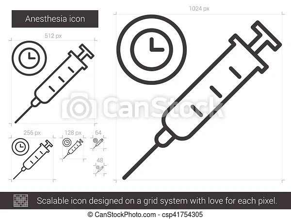 Anesthesia line icon. Anesthesia vector line icon isolated
