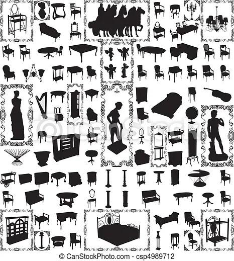 antique furniture hundred vector