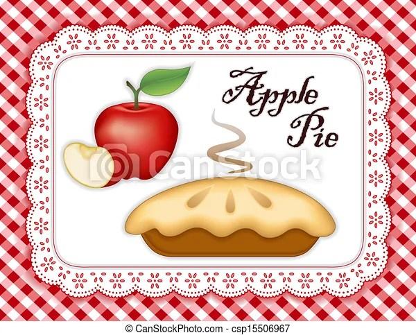 apple pie ripe fruit slice white