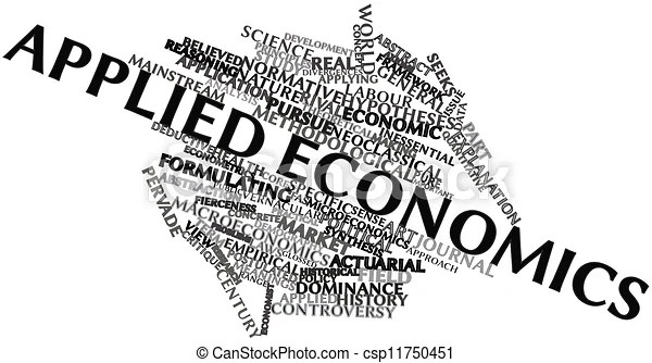 Abstract word cloud for applied economics with related