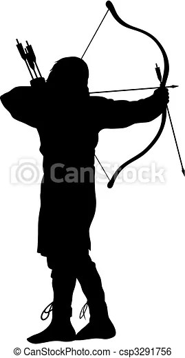 Archer Abstract vector illustration of ancient archer