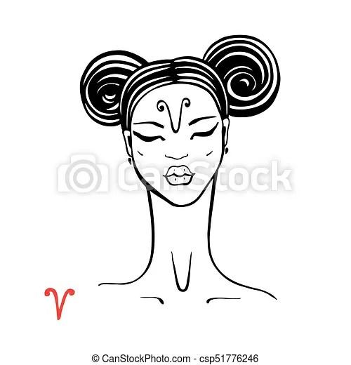 Aries. zodiac beautiful fashion girl. Aries. zodiac signs