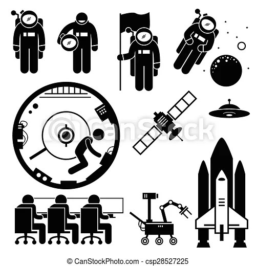Astronaut space exploration clipart. The work of an