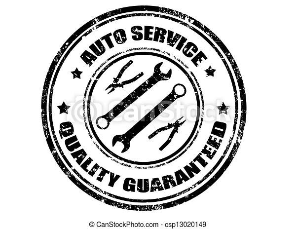 Auto service stamp. Auto service grunge rubber stamp