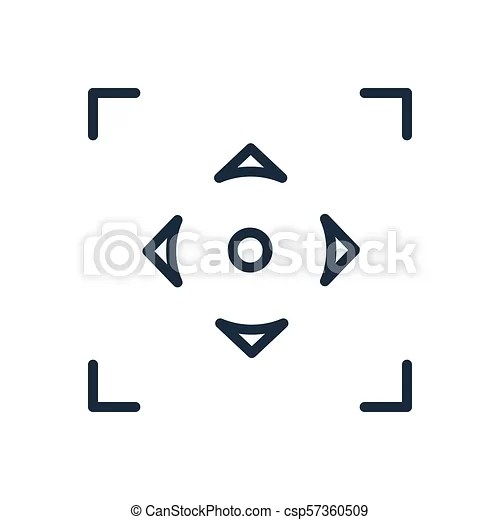 Autofocus linear vector icon. isolated on white background.