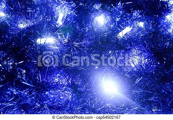 Back Background Of Christmas Decorations Lanterns Lights Garlands Blue Rains New Year S Background