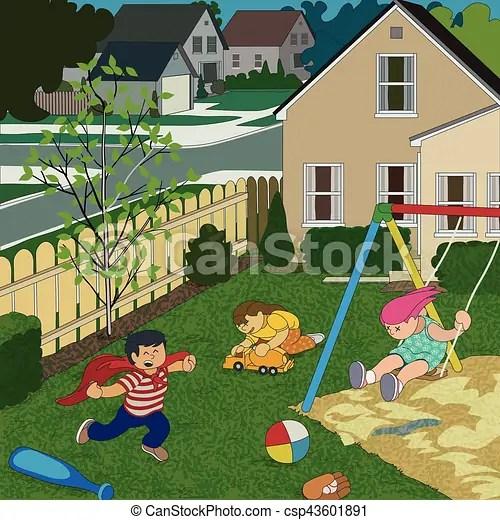 back yard play