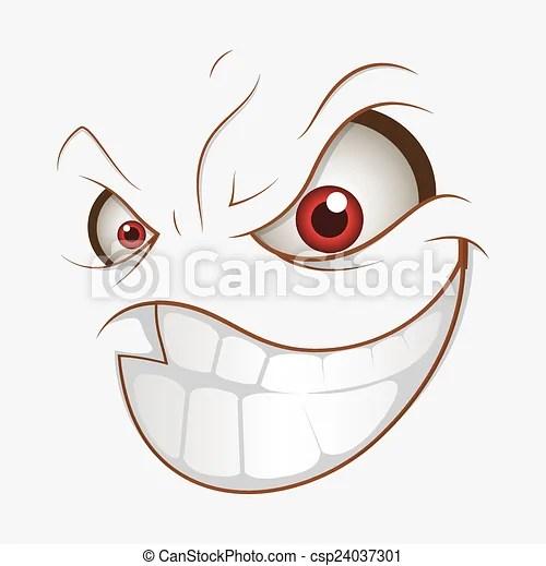 bad cartoon evil smile