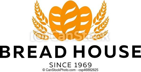 Bakery Shop Emblem Labels Logo And Design Elements Loaf Fresh