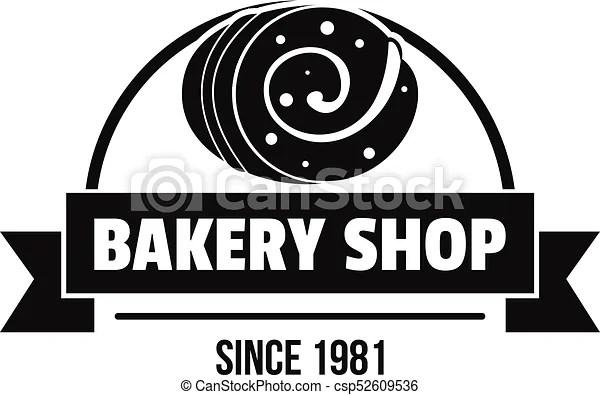 Bakery Shop Logo Simple Black Style Bakery Shop Logo Simple