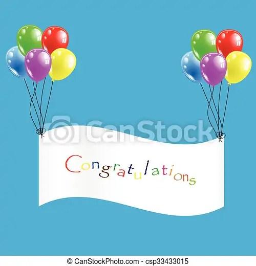 balloon-congratulation. vector