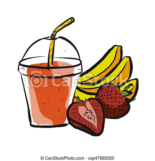 banana strawberry smoothie colored