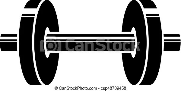 barbell vector logo stylized