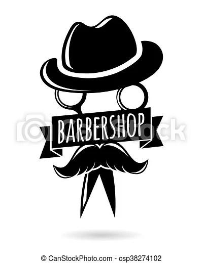 barbershop hipster logo character