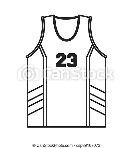 Flat design basketball jersey icon vector illustration.
