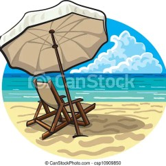 Beach Chair And Umbrella Clipart Dining Room Covers The Range Csp10909850
