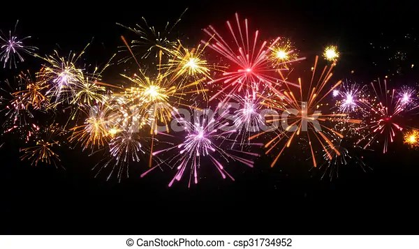 Beautiful Fireworks Illustration Beautiful Fireworks