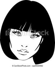 beautiful woman portrait. bob hairstyle